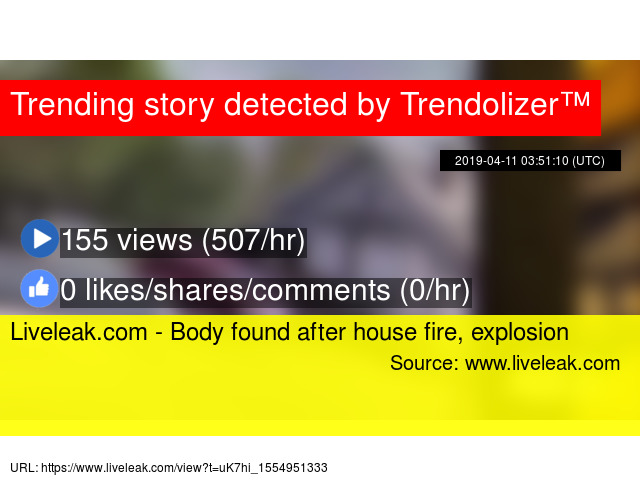 Liveleak com - Body found after house fire, explosion