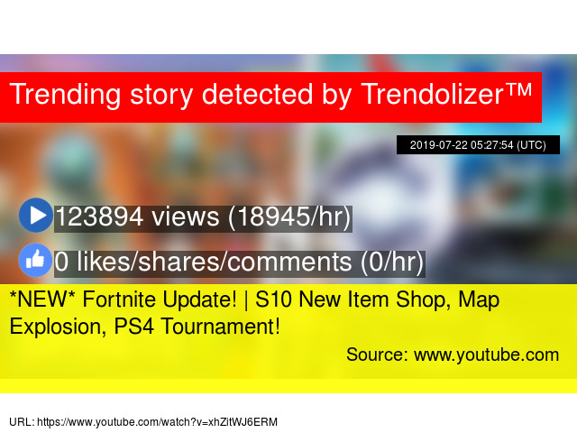 NEW* Fortnite Update! | S10 New Item Shop, Map Explosion