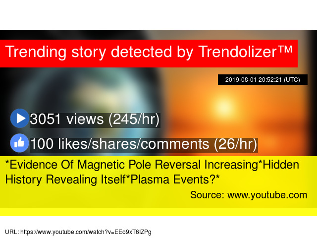 Evidence Of Magnetic Pole Reversal Increasing*Hidden History