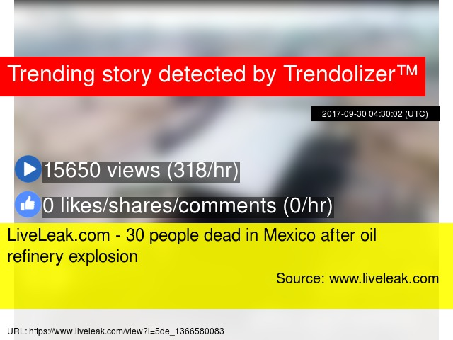 LiveLeak com - 30 people dead in Mexico after oil refinery