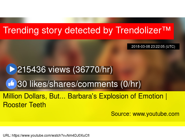 million dollars but barbara s explosion of emotion rooster teeth