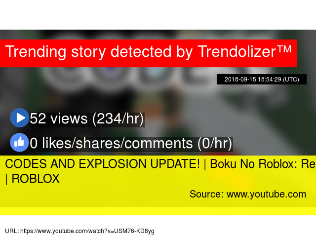 CODES AND EXPLOSION UPDATE! | Boku No Roblox: Remastered