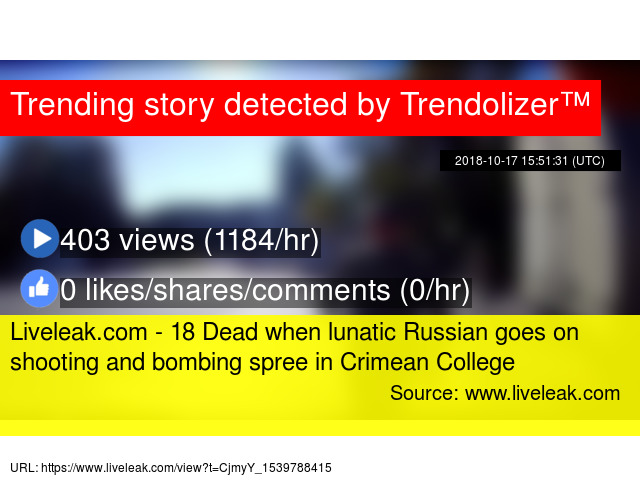 Liveleak com - 18 Dead when lunatic Russian goes on shooting and