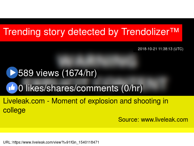 Liveleak com - Moment of explosion and shooting in college